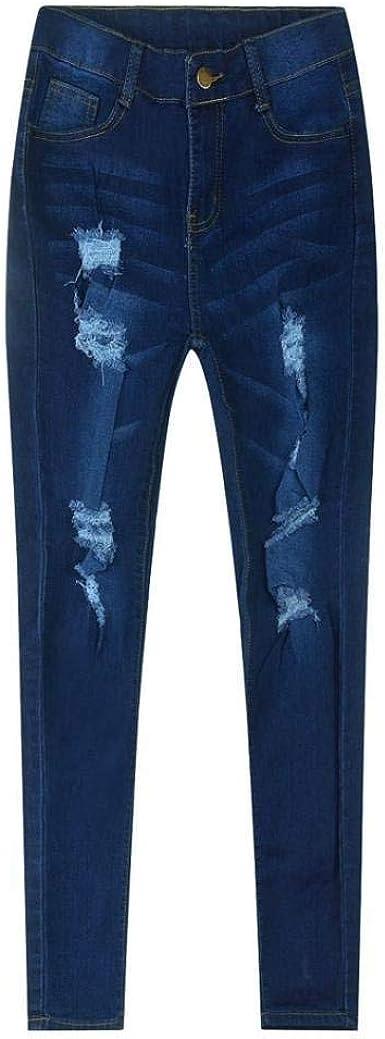Pantalones Vaqueros Pantalones Pitillo Slim Fit para Pantalones De ...