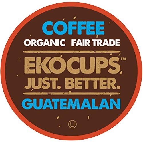 Eko Cups Artisan Guatemalan Coffee, Medium Roast, in Recyclable Single Serve Cups for Keurig K-cup Brewers, 20 count
