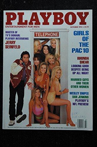 PLAYBOY US 1993 10 GIRLS OF THE PAC 10 RHONDA SHEAR Jenny McCarthy Jerry Seinfeld