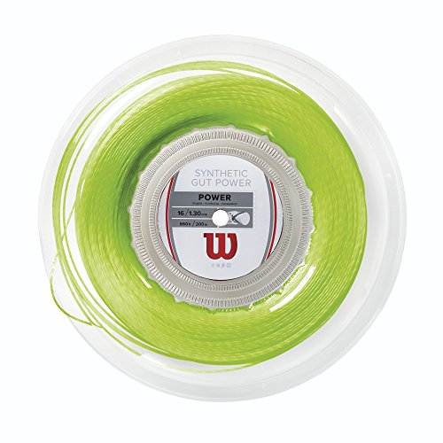 Wilson Synthetic Gut Power Reel, Lime, 16-Gauge ()