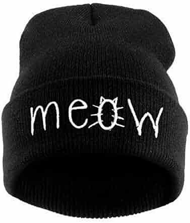 84b857ef4eeb0a Emerayo Caps for Women Winter,Winter Knitting Meow Beanie Hat and Snapback  Men and Women