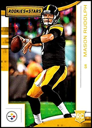 2018 Rookies and Stars Football  125 Mason Rudolph RC Rookie Card Pittsburgh  Steelers Rookie Official 7e2631c65