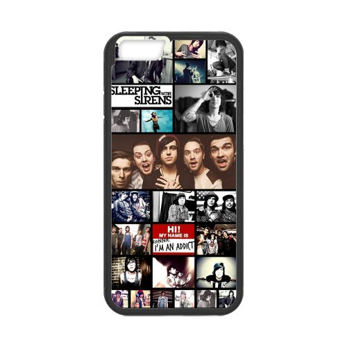 Fayruz- Personalized Protective Hard Textured Rubber Coated Cell Phone Case Cover Compatible with iPhone 6 & iPhone 6S - Sleeping with Sirens F-i5G1115