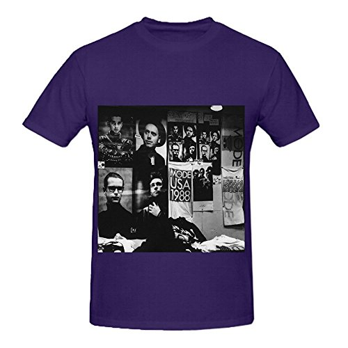 Ernie Mask (Depeche Mode 101 Greatest Hits Mens Crew Neck Short Sleeve Shirts Purple)