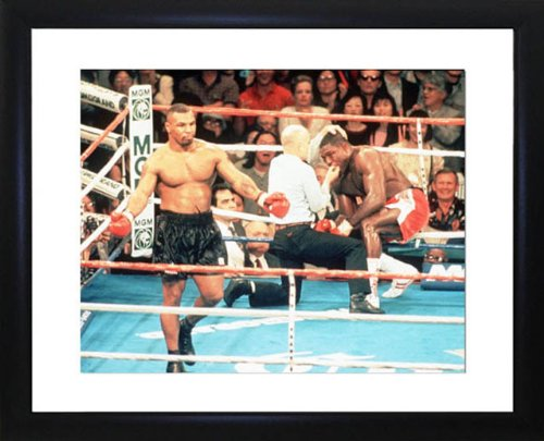 Frank Bruno And Mike Tyson Framed Photo