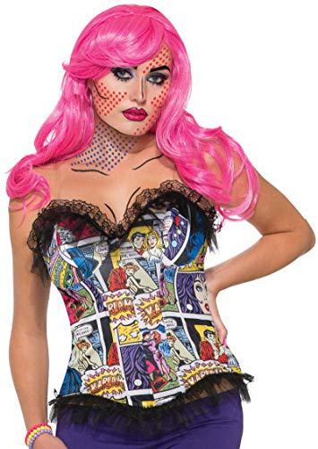 Pop Art Halloween Look (Forum Women's Pop Art Comic Printed Corset, as Shown,)