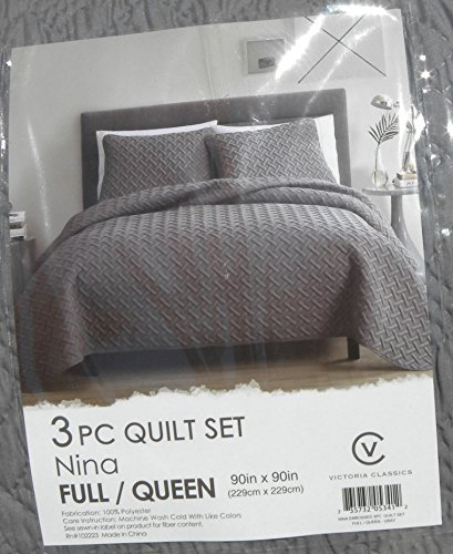 VCNY Home NIA-QLT-FUQU-IN-GV Nina Embossed Quilt Set (2-