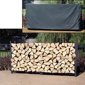 Amazon Com 8 Firewood Storage Rack Cover Included 48 Quot H