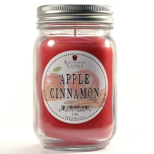 Apple Cinnamon Votive Candle Tin - Pint Mason Jar Candle Apple Cinnamon