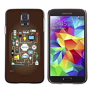 LECELL -- Funda protectora / Cubierta / Piel For Samsung Galaxy S5 SM-G900 -- Funny Innovative Motivate Graph --