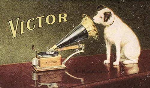 (Rca Victor Trademark NHis MasterS Voice American MerchantS Trade Card C1906 For Victor Talking Machine Company Featuring Nipper The Dog Poster Print by (18 x 24))
