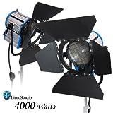LimoStudio 4000 Watt Photo, PhotoStudio, Photography, Video, Film and Television Tungsten Fresnel Continuous Spot Light, 2000 Watt x2, AGG1031