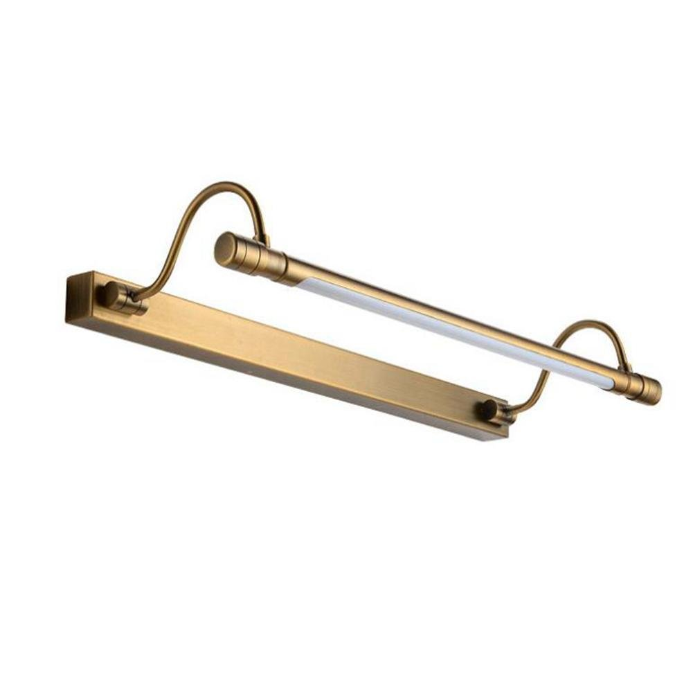 JIN American Front Mirror Retro Led American Mirror Headlights European Bathroom Mirror Simple Bathroom Lamps Mirror Cabinet Lights , 68CM , Bronze by FBHVJ