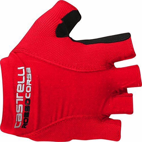 Castelli Mens Bike Glove - Castelli Rosso Corsa Pave Glove - Men's Red, L