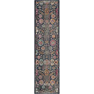 "Safavieh Artisan Collection ATN336J Vintage Bohemian Blue and Multi Distressed Runner (2'2"" x 8')"