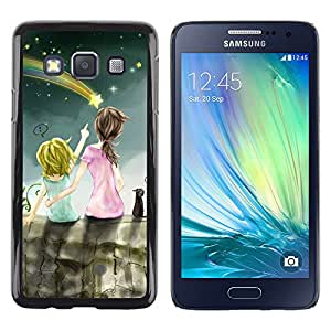 LECELL--Funda protectora / Cubierta / Piel For Samsung Galaxy A3 SM-A300 -- Drawing Mommy Mother Kid Children --