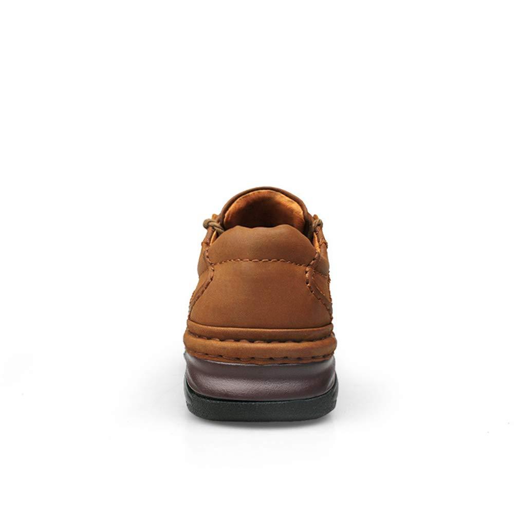 YAN Herren Freizeitschuhe, Herbst & Winter Leder Low-Top Low-Top Low-Top Wanderschuhe Outdoor Wanderschuhe Fashion Comfort Loafers (Farbe   B, Größe   46) 0a44ff