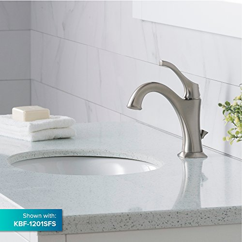 KRAUS Elavo 17 Inch Oval Undermount Porcelain Ceramic Bathroom Sink in White with Overflow, KCU-211 by Kraus (Image #8)