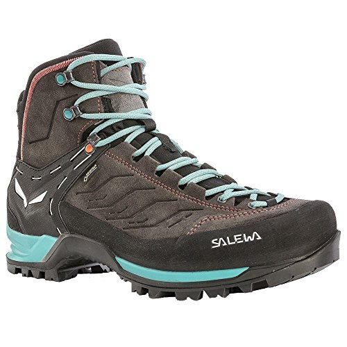 (Salewa Women's MTN Trainer MID GTX-W Mountaineering Boot, Magnet/Viridian Green, 9 D US)