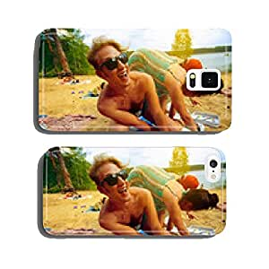 hipsters playing Twister on the beach cell phone cover case iPhone6 Plus