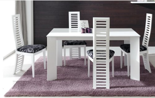Table blanche carre avec rallonges fabulous table ronde for Table carree blanche extensible