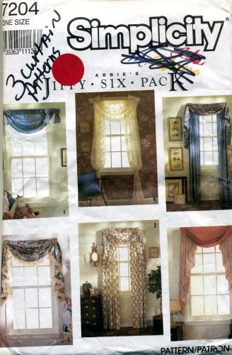 Abbie's Jiffy Six Pack Curtains and Valances Sewing Pattern