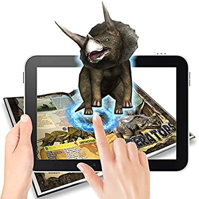 POPAR READ IT. SEE IT. BE IT. Dinosaurs 4D Interactive Smart Book and App: Toys & Games