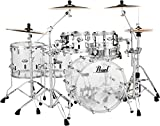 Pearl CRB525FP/C730 Crystal Beat 5 Piece Shell Pack, Ultra Clear (Cymbals/Hardware Sold Separately)