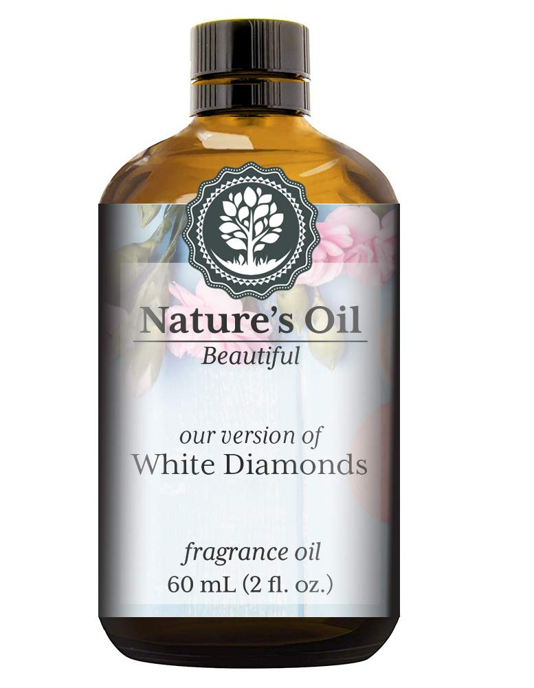 White Diamonds Fragrance Oil (60ml) For Perfume, Diffusers, Soap Making, Candles, Lotion, Home Scents, Linen Spray, Bath Bombs, Slime