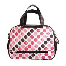 Baby Milk Bottle Diaper Polkadot Bag Mum Shoulder Handbag K1724 (Pink)