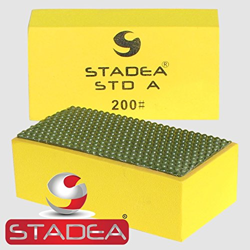 Grit Diamond Hand Pad - diamond sanding blocks hand pads : Grit 200 (Glass, Marble, Stone, Granite, Concrete) 1 Piece by Stadea