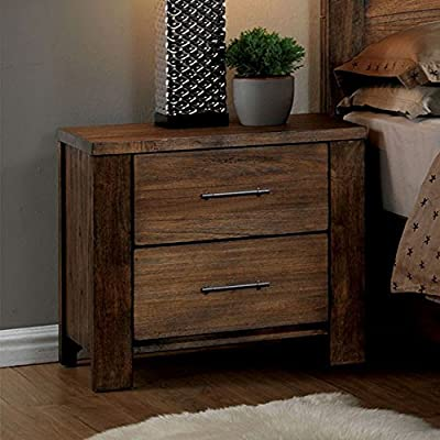 William's Home Furnishing CM7072N Elkton Nightstands, Oak - Part of Elkton collection Crafted from solid wood and wood veneer Antique drawer handle pulls - nightstands, bedroom-furniture, bedroom - 51ZsBrZnnJL. SS400  -