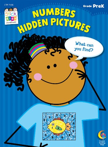 Numbers: Hidden Pictures Stick Kids Workbook, Grade PreK (Stick Kids Workbooks)