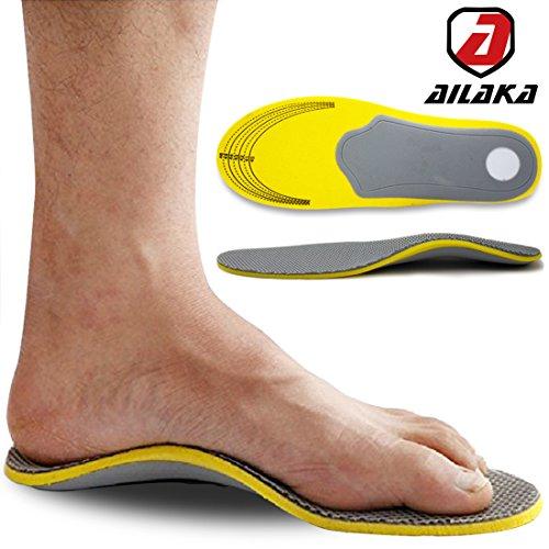 Ailaka Orthotic Cushioning Arch Support Shoe Insole, Unisex Daily Sports...
