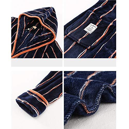 100 Liang Xl Scuro Femminile Blu Per Uomo Cotone Lungo Accappatoio colore Scuro Dimensioni Accogliente Casa In E Nan Lusso Al CYqFwxUA