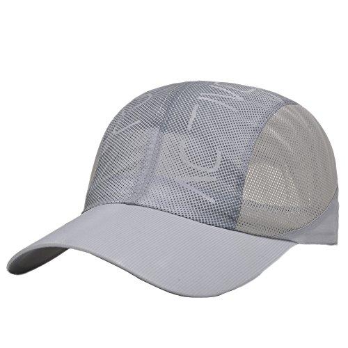 Men Summer Sea Beach Quick-dry Sun Travel Folding Mesh Running Baseball Hat Cap -