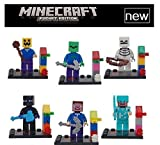 6pcs Lot Action Figure Game Minicraft Zombie Steve Skeleton Pumkin Coolie Building Blocks Toy Minifigures Compatible with Lego