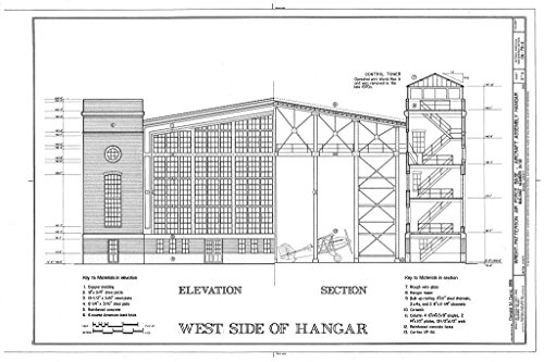 Blueprint Diagram HAER OHIO,29-DAYT.V,1E- (sheet 3 of 4) - Wright-Patterson Air Force Base, Area B, Building No. 31, Aircraft Assembly Hangar, Dayton, Montgomery County, OH 12in x 08in