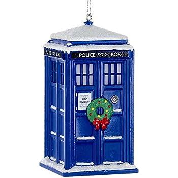 Amazon.com: Kurt Adler Doctor Who Tardis Figural Ornament (Glass ...