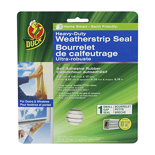 Duck Brand 282439 Heavy-Duty Self Adhesive Rubber Weatherstr