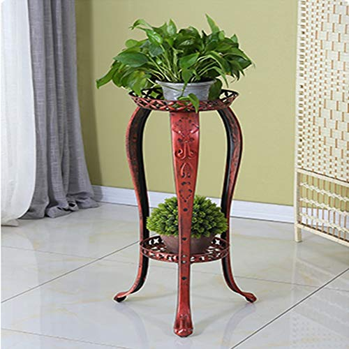 BENCONO Wrought Iron Multi-Storey Floor Indoor Balcony Hanging Household Flower Stand (Color : Red Copper) by BENCONO