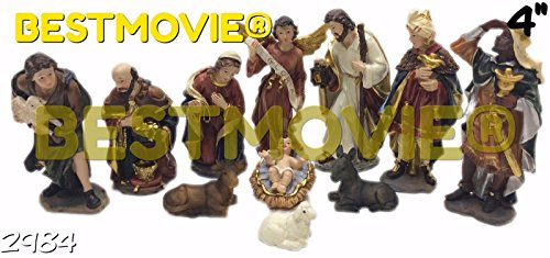 NEW - NACIMIENTO/NATIVITY SET 4 INCHES 11 PIECE SET 2984 by C & C