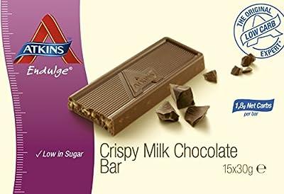 Atkins Endulge Milk Chocolate 30 g Low Carb Crisp Bars - by Atkins Endulge