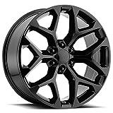 black 24 rims - OE Replica 176GB GM Acc 20x9 6x139.7 +24mm Gloss Black Wheel Rim