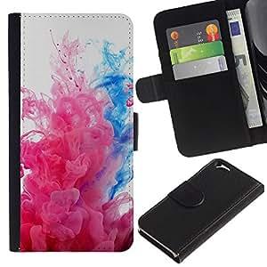 """A-type (Explosiones de color"""") Colorida Impresión Funda Cuero Monedero Caja Bolsa Cubierta Caja Piel Card Slots Para Apple (4.7 inches!!!) iPhone 6 / 6S"""