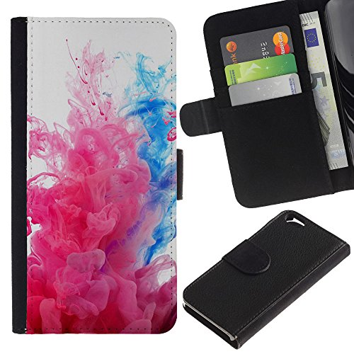 Funny Phone Case // Cuir Portefeuille Housse de protection Étui Leather Wallet Protective Case pour Apple Iphone 6 / Explosions de couleurs /
