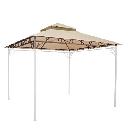 10.6ft x 10.6ft Outdoor Waterproof Polyester Gazebo Canopy Top Replacement 2-tier PVC  sc 1 st  Amazon.com & Amazon.com: 10.6ft x 10.6ft Outdoor Waterproof Polyester Gazebo ...