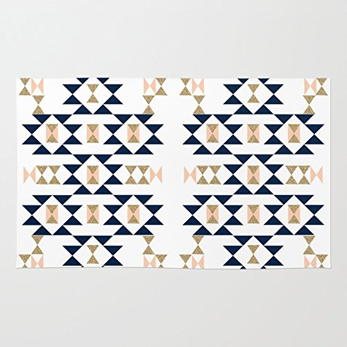 Society6 Jacs - Modern Pattern Design In Aztec Themed Pattern Navajo Print Textile Cute Trendy Girl Rug 3' x 5'