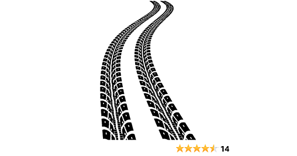 4nvb Tire Trace Wall Decal Car Trail Sticker Boys/' Room Interior Housewares Decoration Automobile Track Bedhead Headboard Removable Decor