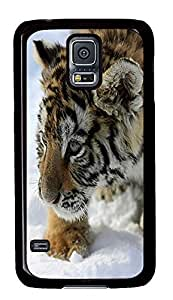 popular Samsung Galaxy S5 case Tiger Cub Animal PC Black Custom Samsung Galaxy S5 Case Cover